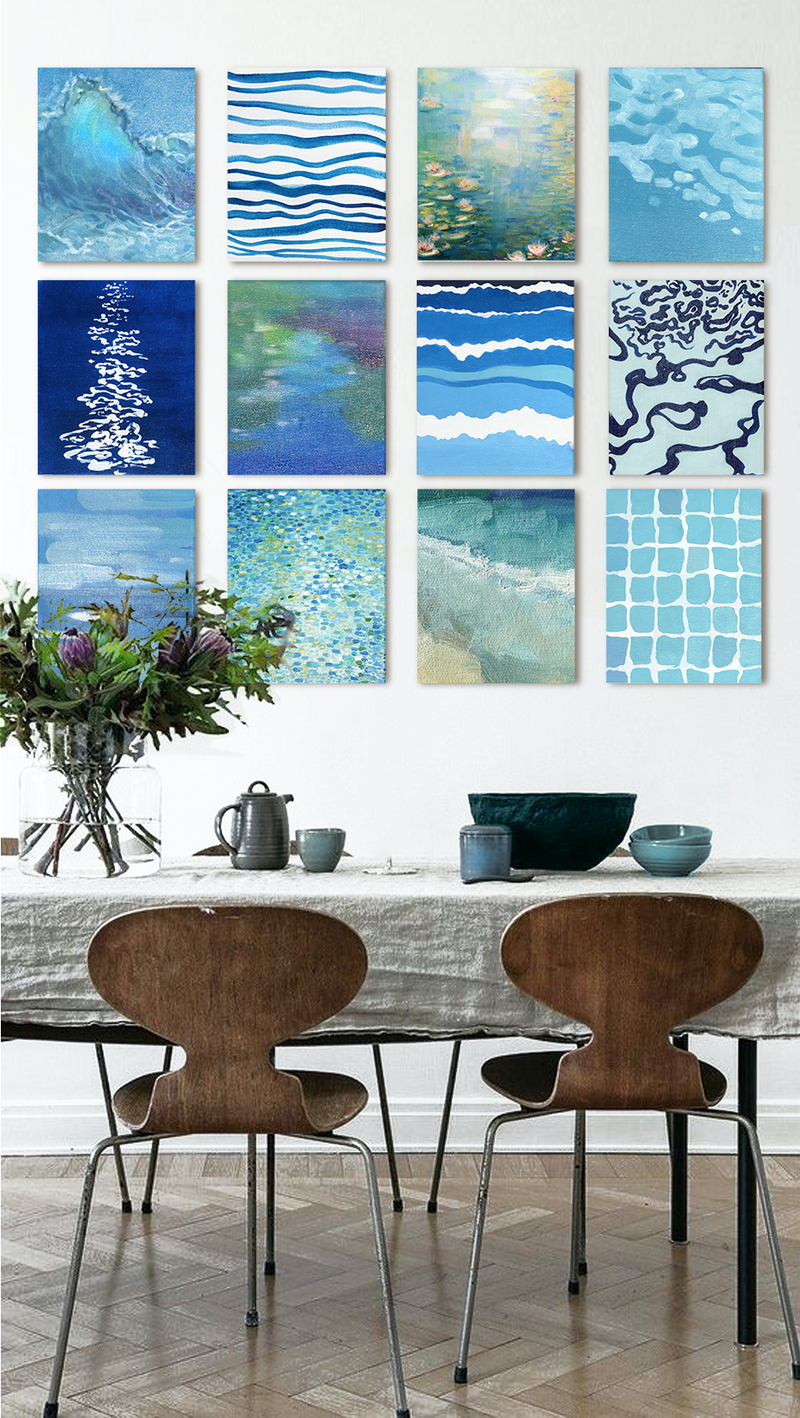 (CreativeWork) OVER SEAS  [A Twelvetych] by Donna Christie. Oil Paint. Shop online at Bluethumb.