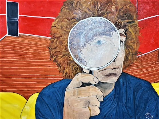 (CreativeWork) Brett Whiteley - study 1 by Paul Crowe. Oil. Shop online at Bluethumb.
