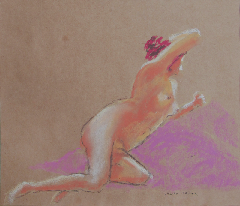 (CreativeWork) Spontaneity II - Nude sketch by Jillian Crider. drawing. Shop online at Bluethumb.