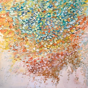 (CreativeWork) Petals in the wind  by Theo Papathomas. oil-painting. Shop online at Bluethumb.