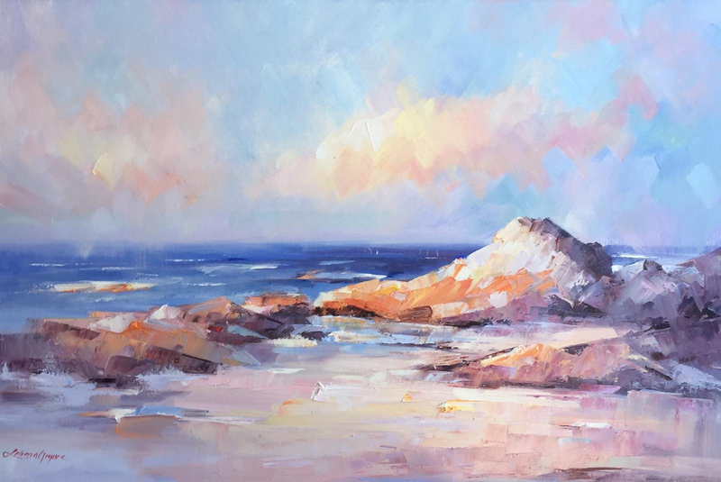 (CreativeWork) Bay of fires by Liliana Gigovic. Oil Paint. Shop online at Bluethumb.