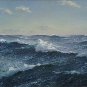 (CreativeWork) The Ocean Supreme 111 by Ian Hansen. oil-painting. Shop online at Bluethumb.