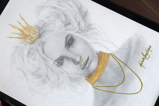 (CreativeWork) Sweet Little Princess by Michelle Angelique. Drawings. Shop online at Bluethumb.