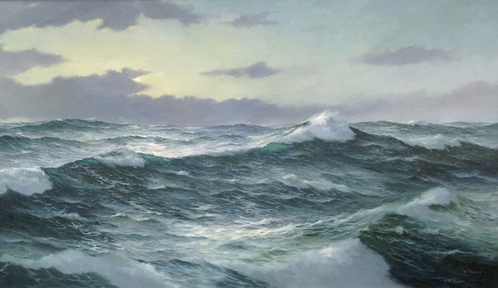 (CreativeWork) The Ocean Supreme 11 by Ian Hansen. Oil Paint. Shop online at Bluethumb.
