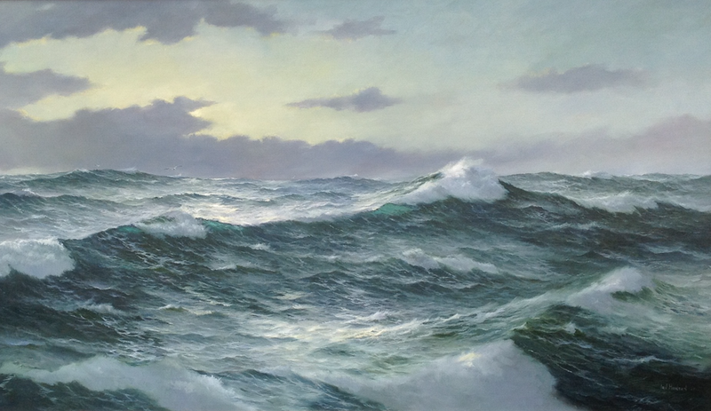 (CreativeWork) The Ocean Supreme 11 by Ian Hansen. oil-painting. Shop online at Bluethumb.