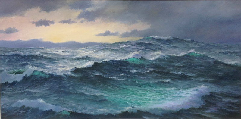 (CreativeWork) The Tasman Sea by Ian Hansen. oil-painting. Shop online at Bluethumb.