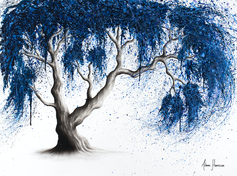 (CreativeWork) Blue Dream Tree by Ashvin Harrison. arcylic-painting. Shop online at Bluethumb.