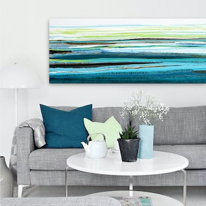 (CreativeWork) Coral Coast by Stephanie Laine Pickering. arcylic-painting. Shop online at Bluethumb.