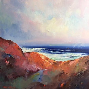 (CreativeWork) Seascape study #7 by Liliana Gigovic. oil-painting. Shop online at Bluethumb.