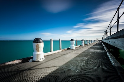 (CreativeWork) Rye Pier by Piers Buxton. photograph. Shop online at Bluethumb.