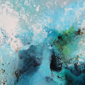 (CreativeWork) Inks of the Ocean by Sue Dyde. mixed-media. Shop online at Bluethumb.