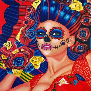 (CreativeWork) La Bruja #2 by Javi Sanchez. arcylic-painting. Shop online at Bluethumb.