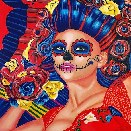 (CreativeWork) La Bruja #2 by Javi Sanchez. Acrylic Paint. Shop online at Bluethumb.