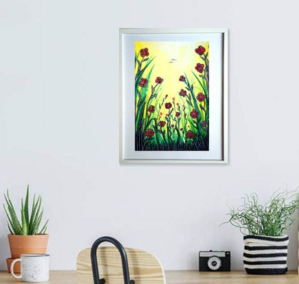 (CreativeWork) Promise of Spring  (Framed) by Linda Callaghan. Watercolour Paint. Shop online at Bluethumb.