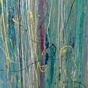 (CreativeWork) Symphony by Terina Jones. arcylic-painting. Shop online at Bluethumb.
