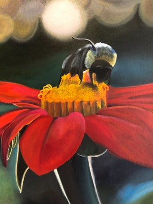 (CreativeWork) Bee-Line by Bernadette McConville. Oil Paint. Shop online at Bluethumb.