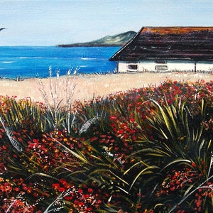 (CreativeWork) Seaview Cottage by Linda Callaghan. arcylic-painting. Shop online at Bluethumb.