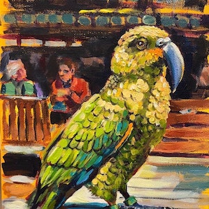 (CreativeWork) The Kea by Valentyna Crane. arcylic-painting. Shop online at Bluethumb.