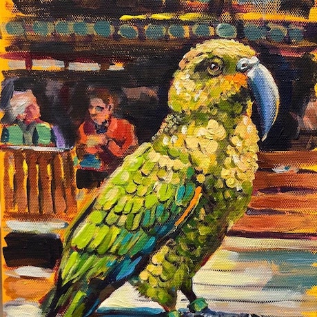 (CreativeWork) The Kea by Valentyna Crane. Acrylic Paint. Shop online at Bluethumb.