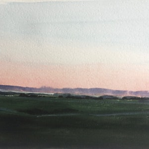 (CreativeWork) Mornington Mist by Tiffany Blaise. watercolour. Shop online at Bluethumb.
