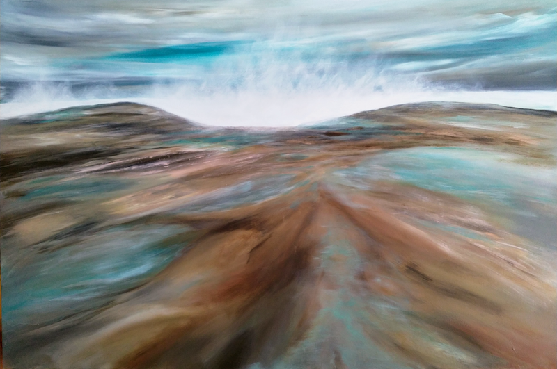 (CreativeWork) Collide A Scope   by Amanda Skye. arcylic-painting. Shop online at Bluethumb.
