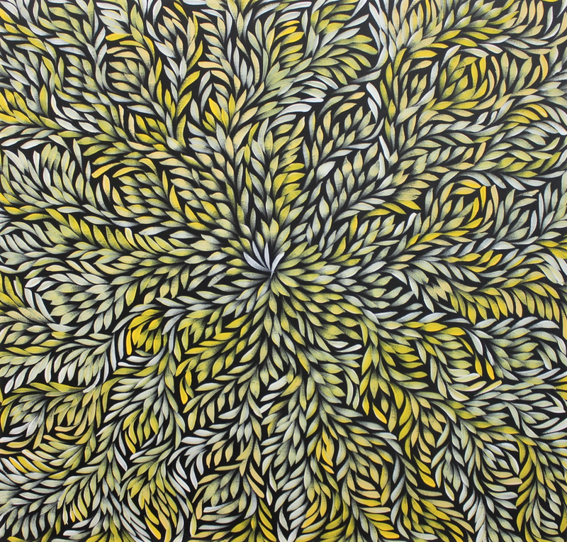 (CreativeWork) Bush Medicine Leaves  by Louise Numina. arcylic-painting. Shop online at Bluethumb.