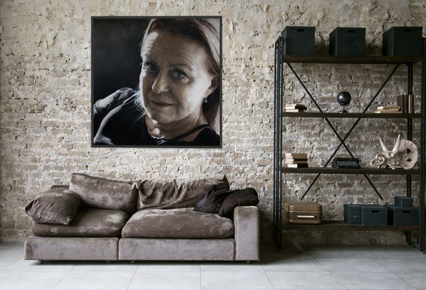 (CreativeWork) Complex Simplicity - Jacki Weaver by Jaq Grantford. Oil Paint. Shop online at Bluethumb.