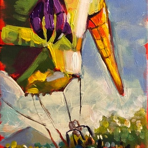 (CreativeWork) Spectacular balloon by Valentyna Crane. arcylic-painting. Shop online at Bluethumb.