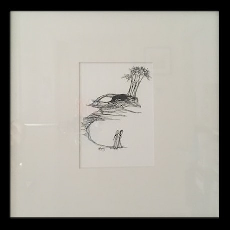 (CreativeWork) Azure Assurances by Kylie Fogarty. Drawings. Shop online at Bluethumb.