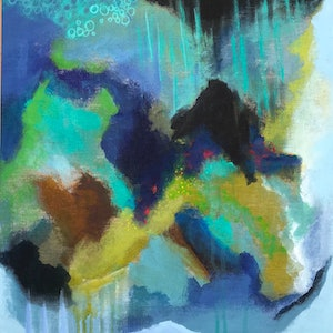 (CreativeWork) Movement 1 by Tracey Berthold. mixed-media. Shop online at Bluethumb.