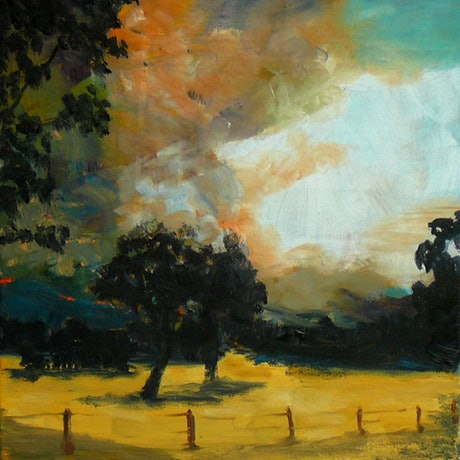 (CreativeWork) Queensland Burning #1 ; Time to Leave by Rob Sinclair. Oil Paint. Shop online at Bluethumb.