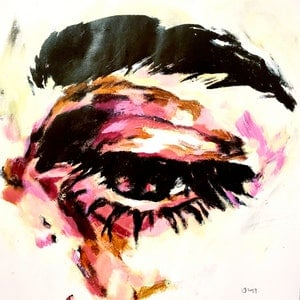(CreativeWork) Eye Study 170119 by Rebecca lam. arcylic-painting. Shop online at Bluethumb.