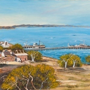 (CreativeWork) Australian Landscape Darwin Waterfront and Parliamentary Precinct Circa 1954 - Disappearing  Darwin Series - Ed. 1 of 50 by Kit McNeill. print. Shop online at Bluethumb.