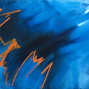 (CreativeWork) Out Of The Blue 2 by David Clare. oil-painting. Shop online at Bluethumb.