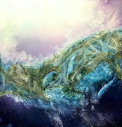 (CreativeWork) Ghosts of the Ocean.  by Meg Lewer. Other Media. Shop online at Bluethumb.