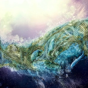 (CreativeWork) Ghosts of the Ocean.  by Meg Lewer. other-media. Shop online at Bluethumb.