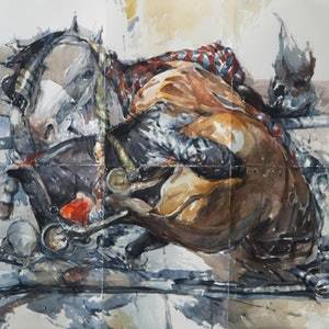 (CreativeWork) The Abduction of Europa by Tony Belobrajdic. watercolour. Shop online at Bluethumb.