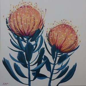 (CreativeWork) Banksia 1 by Jo Taylor. arcylic-painting. Shop online at Bluethumb.