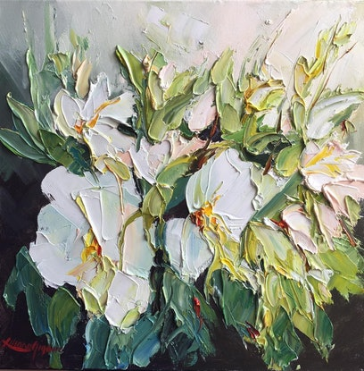 (CreativeWork) Spring delight #3 by Liliana gigovic. Oil. Shop online at Bluethumb.