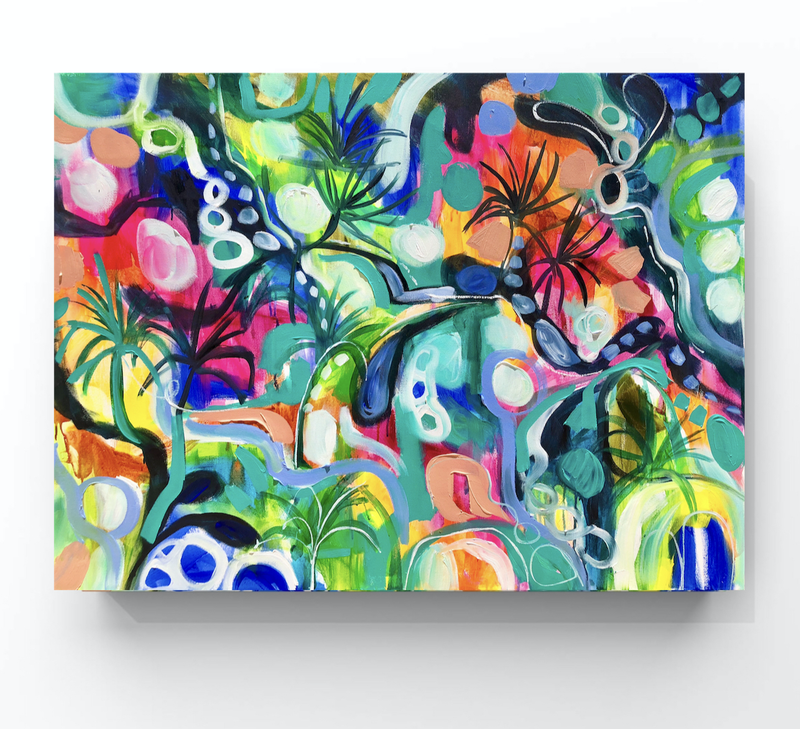 (CreativeWork) Hot summer nights  by Amanda Brooks. arcylic-painting. Shop online at Bluethumb.