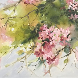 (CreativeWork) A Touch Of Spring by Leanne Manns. arcylic-painting. Shop online at Bluethumb.