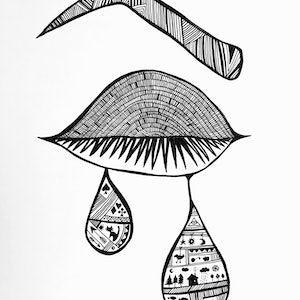 (CreativeWork) Sorrow by Irma Calabrese. drawing. Shop online at Bluethumb.