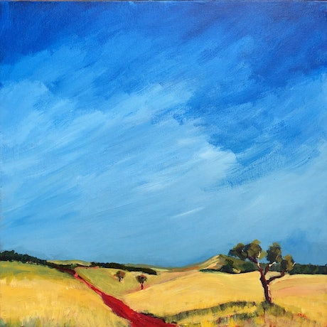 (CreativeWork) Big Sky Country by Colleen Michelle Connors. Acrylic Paint. Shop online at Bluethumb.