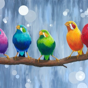 (CreativeWork) Rainbow Song Ed. 7 of 50 by Rebecca Phillips. print. Shop online at Bluethumb.