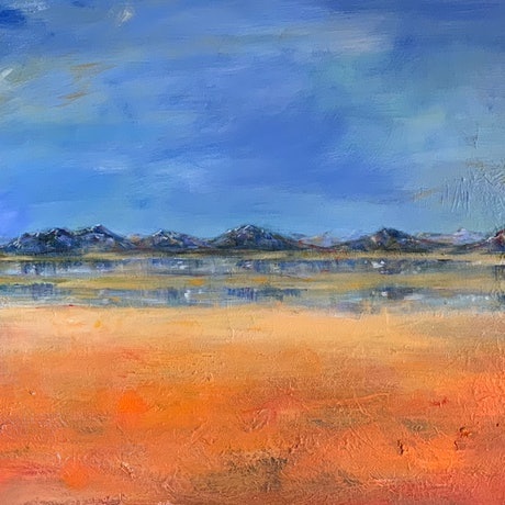 (CreativeWork) Desert Mirage by Roslyn Elms. Acrylic Paint. Shop online at Bluethumb.