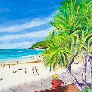 (CreativeWork) Noosa on View  by Gillian Fahey. arcylic-painting. Shop online at Bluethumb.