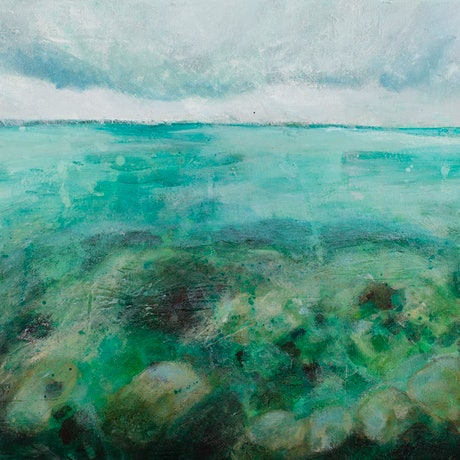 (CreativeWork) Emerald by Jennifer Prior. Acrylic Paint. Shop online at Bluethumb.