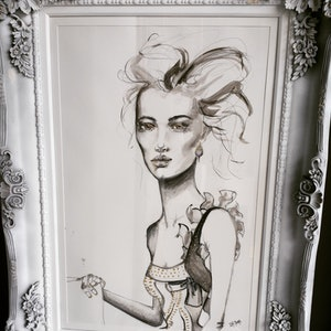 (CreativeWork) Josephine  by Luisa Manea. mixed-media. Shop online at Bluethumb.