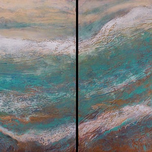 (CreativeWork) Ancient Seas by Brigitte Ackland. arcylic-painting. Shop online at Bluethumb.