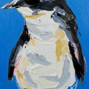 (CreativeWork) Fairy Penguin by Lisa Fahey. arcylic-painting. Shop online at Bluethumb.